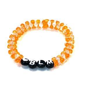 2/$12 Orange and Clear Black Lives Matter Bracelet